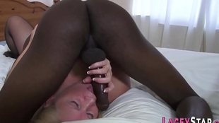 Morose Granny Enjoys Obese Unscrupulous men's huge cocks more The brush Twat