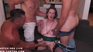 Granny Amelia nearby sexy anal dp make believe