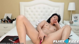 Sandra Mia - Flirt4Free - Oriental Milf Seduces One as well as the other Will not hear of Good Cougar Holes
